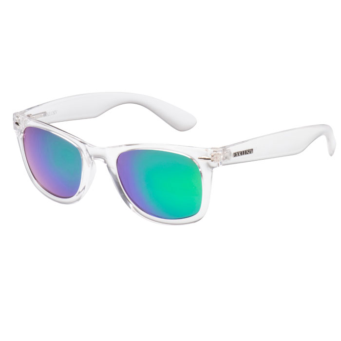 Sunglasses EXKLUSIV transparent Neon model green fluo color