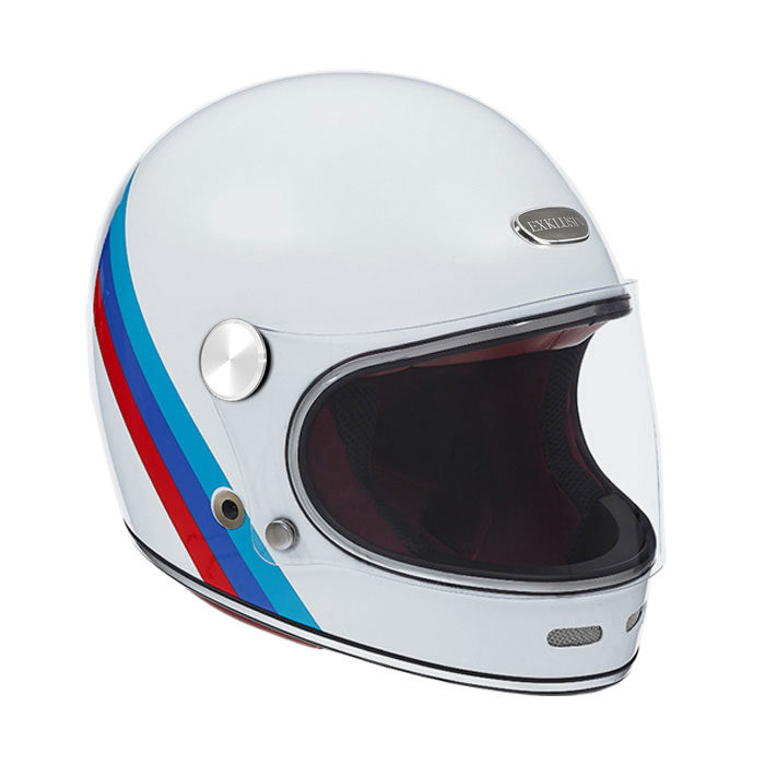 casque moto intégral / full face vintage EXKLUSIV helmets Duke nation