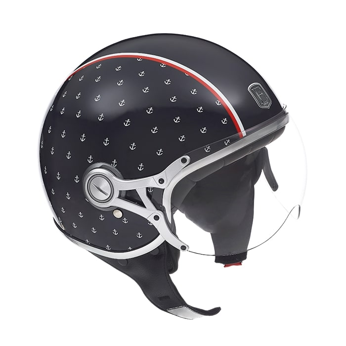 Casque jet exklusiv Freeway navy bleu