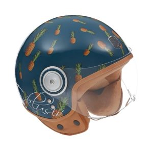 Exklusiv motorcycle helmet pineapple design
