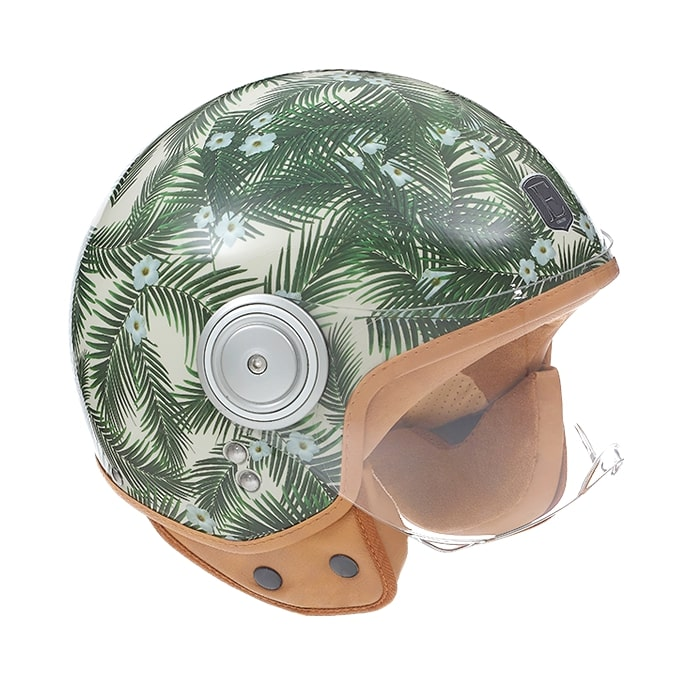 Exklusiv motorcycle helmet tropical design