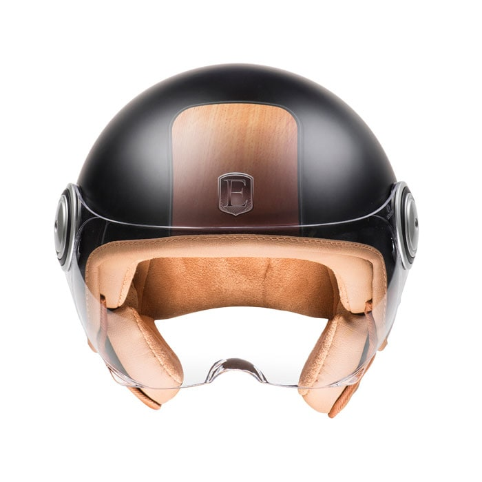 Casque jet Exklusiv design wood