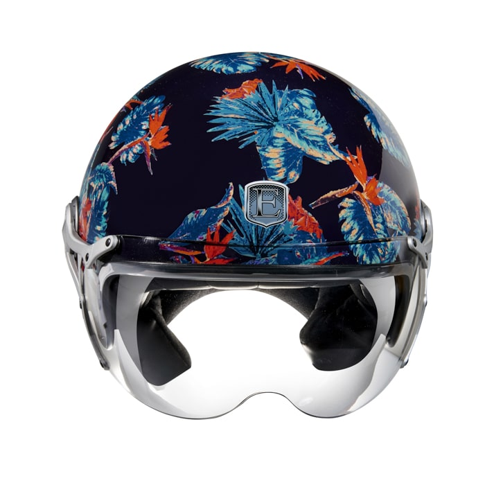 casque moto jet Exklusiv Freeway Jungle print flower