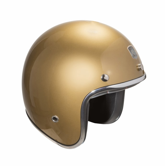 Casque moto jet EXKLUSIV custom Or